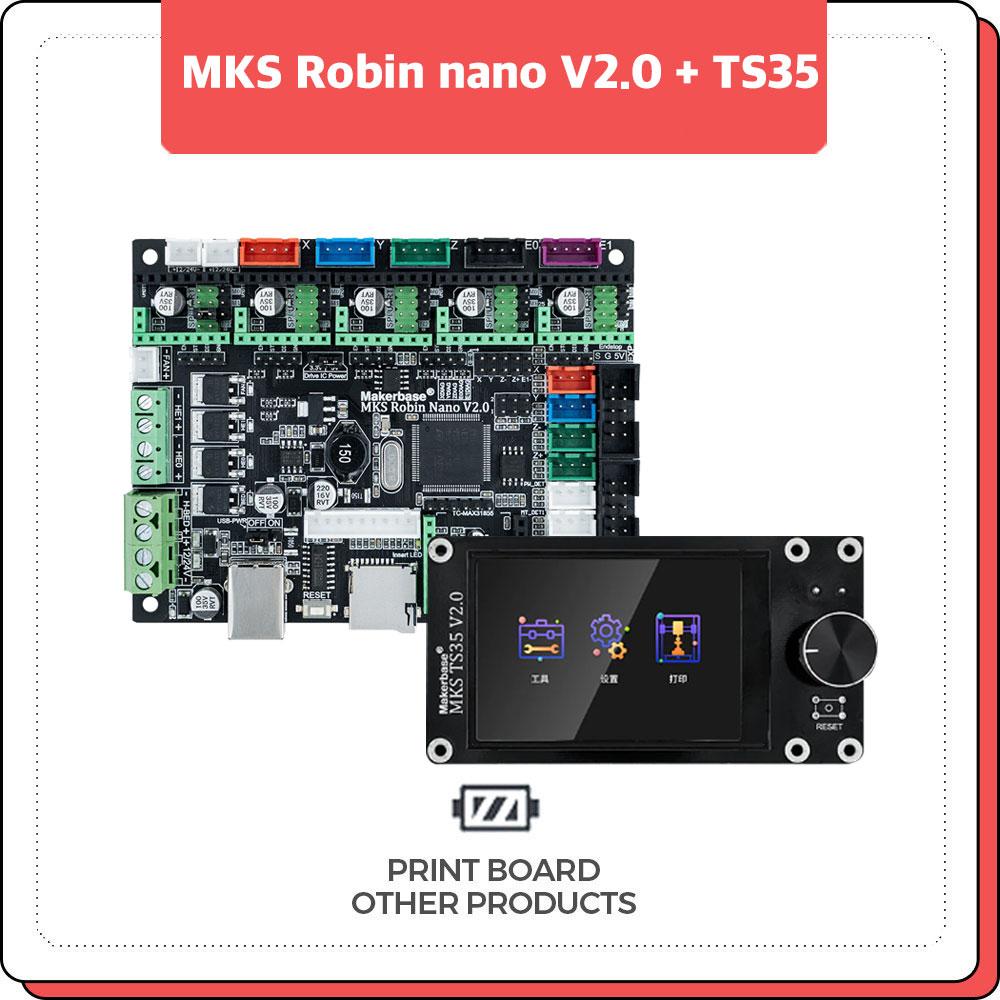 프린트보드 MKS Robin nano V2.0 + TS35